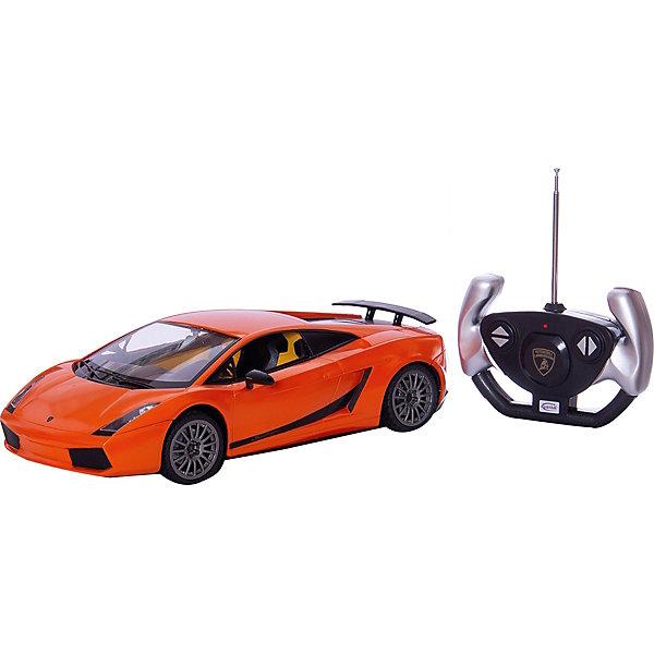 RASTAR Радиоуправляемая машина Lamborghini 1:14, оранжеваяРадиоуправляемые машины<br>RASTAR Радиоуправляемая машина Lamborghini 1:14 - игрушка, которая наверняка приведет в восторг юного любителя  взрослых автомобилей: эта радиоуправляемая машина - уменьшенная копия настоящего Lamborghini! <br><br>Модель выполнена в масштабе 1: 14.<br><br>Особенности игрушки:<br><br>- Работает на частоте: 27MHz; <br>- Движение вперед, назад, вправо, влево; <br>- Контроль управления: 15 - 45 метров; <br>- Развивает скорость до: 7 км/ч; <br>- Светятся фары. <br><br><br>Дополнительная информация:<br><br><br>- Для работы требуются батарейки: 5 Х АА, 6F/22<br>(не входят в комплект).<br>- Материалы: пластмасса, металл.<br>- Размер: 30,7 х 13,6 х 8,5 см.<br>- Размер упаковки: 43 х 22,5 х 17,5 см.<br>- Вес: 1,16 кг.<br>Ширина мм: 175; Глубина мм: 430; Высота мм: 225; Вес г: 1160; Возраст от месяцев: 72; Возраст до месяцев: 144; Пол: Мужской; Возраст: Детский; SKU: 4833563;