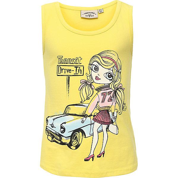 Купить Майка для девочки Finn Flare, Бангладеш, желтый, 110, 122, Женский