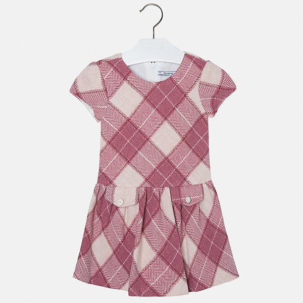 Платье для девочки MayoralОдежда<br>Платье для девочки от популярного испанского бренда Mayoral(Майорал). Платье застегивается на молнию сзади, есть 2 декоративных кармана спереди. Платье нежных цветов с простым дизайном - прекрасный выбор для юной леди.<br>Дополнительная информация:<br>-короткие рукава<br>-застегивается на молнию<br>-2 декоративных кармана<br>-цвет: красный<br>-состав. 53% полиэстер, 23% шерсть, 22% полиамид, 2% металлическое волокно; подкладка: 50% хлопок, 50% полиэстер<br>Платье Mayoral(Майорал) вы можете приобрести в нашем интернет-магазине.<br>Ширина мм: 236; Глубина мм: 16; Высота мм: 184; Вес г: 177; Цвет: розовый; Возраст от месяцев: 36; Возраст до месяцев: 48; Пол: Женский; Возраст: Детский; Размер: 104,110,134,116,122,128,98; SKU: 4844331;