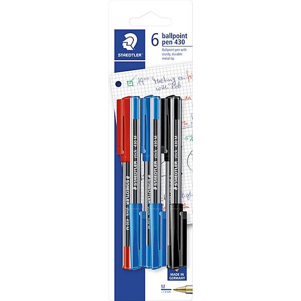 Staedtler Шариковая ручка Stick, 0,5мм, 6 шт.