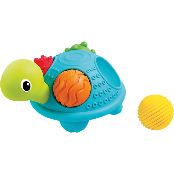 Развивающая игрушка Bkids Sensory ЧерепашкаРазвивающие центры<br>Характеристики:<br><br>• возраст: от 6 месяцев;<br>• материал: пластик;<br>• в наборе: черепаха, 4 шарика;<br>• размер упаковки: 25,5х20,2х13 см;<br>• страна бренда: США.<br><br>Игрушка Bkids Sensory «Черепашка» состоит из самой черепахи и четырех шариков, которые можно разместить у нее на спине.<br><br>Цветные мягкие шарики выполнены с особыми рельефами на поверхности – их интересно изучать пальчиками. Кроме того, шарики можно сжимать в ручках, а после они восстановят свою форму.<br><br>Набор развивает тактильные ощущения и цветовое восприятие. Сделано из качественных безопасных материалов.<br><br>Игрушку Bkids «Черепашка Sensory» можно купить в нашем интернет-магазине.<br>Ширина мм: 257; Глубина мм: 208; Высота мм: 139; Вес г: 544; Возраст от месяцев: 6; Возраст до месяцев: 18; Пол: Унисекс; Возраст: Детский; SKU: 4854191;