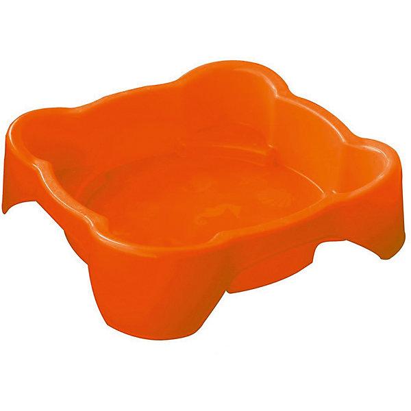 Фотография товара песочница квадратная, оранжевая, PalPlay (4860652)