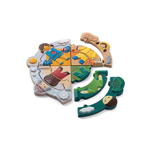 Пазл Времена года, Plan ToysПазлы для малышей<br>Пазл Времена года поможет Вашему малышу развить логику и зрительное восприятие, а также улучшить координацию и мелкую моторику. Пазл состоит из 4 частей, каждая из которых изображает определенное время года. Необходимо правильно и последовательно соединить все части пазла, собрав изображения воедино. Все детали игры выполнены из качественного прессованного каучукового дерева с нанесением безопасных нетоксичных красок.<br><br>Дополнительная информация:<br><br>-Размер игры: 1х6х15 см<br>-Материал: дерево<br>-Вес: 0.4 кг<br><br>Пазл Времена года, Plan Toys можно купить в нашем интернет-магазине.<br>Ширина мм: 6; Глубина мм: 1; Высота мм: 15; Вес г: 400; Возраст от месяцев: 36; Возраст до месяцев: 1188; Пол: Унисекс; Возраст: Детский; SKU: 4862356;