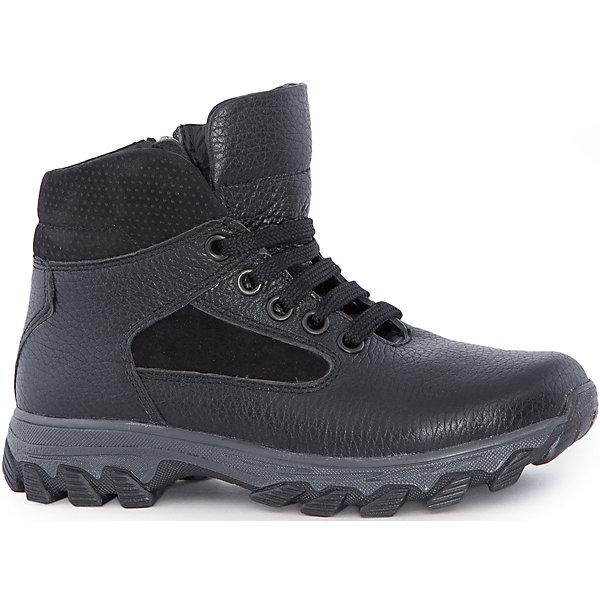 Ботинки для мальчика MursuОбувь<br>Ботинки для мальчика MURSU (Мурсу).<br><br>Характеристики:<br><br>• цвет: черный<br>• температурный режим до -25С<br>• материал верха: натуральная кожа<br>• внутренний материал: натуральная шерсть<br>• стелька: шерсть<br>застежка-молния сбоку, шнурки<br>• сезон: зима<br><br>Удобные ботинки MURSU сохранят тепло и подарят комфорт на протяжении всей прогулки. Они изготовлены из натуральной кожи с подкладкой из шерсти. Рифленая подошва обеспечит устойчивость на сколькой дороге. Ботинки застегиваются на молнию сбоку и имеют шнуровку по толщине ноги спереди. Легкие удобные ботинки - отличный выбор для зимних прогулок!<br><br>Ботинки для мальчика MURSU (Мурсу) вы можете купить в нашем интернет-магазине.<br>Ширина мм: 262; Глубина мм: 176; Высота мм: 97; Вес г: 427; Цвет: черный; Возраст от месяцев: 96; Возраст до месяцев: 108; Пол: Мужской; Возраст: Детский; Размер: 35,37,33,34,36,32; SKU: 4862736;