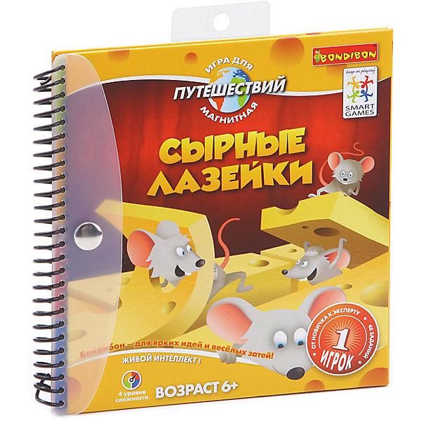 Bondibon Магнитная логическая игра для путешествий Сырные лазейки, Bondibon bondibon логическая игра парковка пазл вв1887