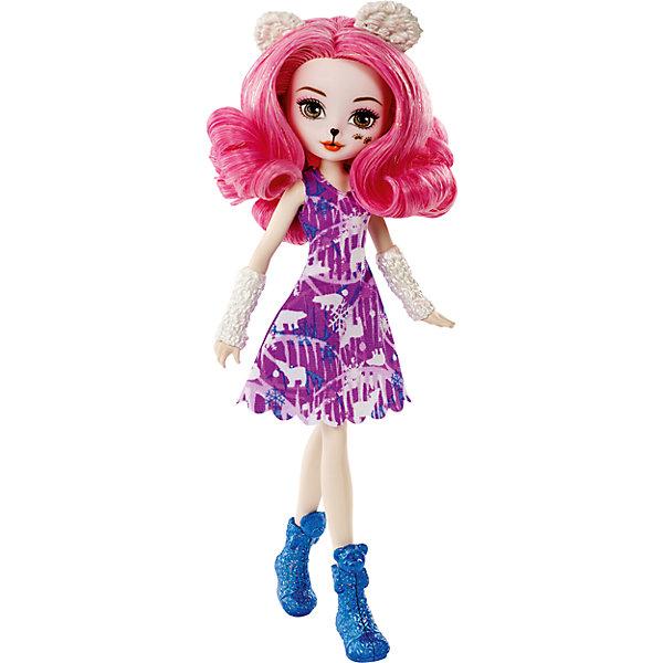 Кукла Ever After High Заколдованная зима ВероникубКуклы<br>Характеристики:<br><br>• материал: пластик, текстиль<br>• в комплекте: кукла<br>• высота куклы: 20 см<br>• упаковка: картонная коробка<br>• вес в упаковке: 208 гр<br>• размер упаковки: 5,5х10х32,5 см<br>• страна бренда: США<br><br>Кукла выполнена в образе волшебного животного и является хранительницей леса и его обитателей. Одета в яркое красивое платье и туфельки, а на голове имеются звериные ушки. Волосы длинные и мягкие, можно расчёсывать придумывая новые образы. Руки и ноги подвижные и сгибаются в коленях, локтях и кистях для более реалистичной игры.