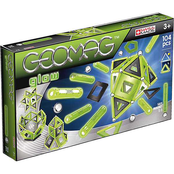 Фото - Geomag Магнитный конструктор Geomag Glow, 104 детали конструктор nd play автомобильный парк 265 608