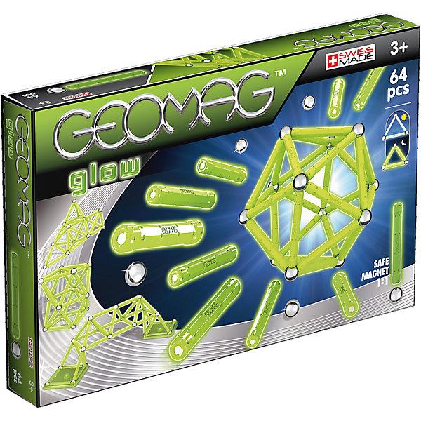 Geomag Магнитный конструктор Geomag Glow, 64 детали