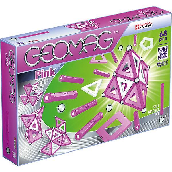 Магнитный конструктор Geomag Pink,  68 деталейМагнитные конструкторы<br>Характеристики:<br><br>• возраст: от 3 лет;<br>• материал: пластик, металл, магниты;<br>• комплектация: 68 дет.;<br>• размер: 21х5х35 см;<br>• вес: 710 гр;<br>• страна бренда: Швейцария;<br>• бренд: Geomag.<br><br><br>Магнитный конструктор Geomag  «Pink» состоит из шариков и палочек. Материал выполнен в розовых тонах. Благодаря декоративным элементам на панелях, блоки предлагают еще больше творческих возможностей. <br><br>С помощью различных конструкций вы можете создавать структуры из научно-фантастических фильмов - только ваше воображение ограничивает вас. Конструктор развивает воображение и пространственное мышление.<br><br>Магнитный конструктор Geomag  «Pink» можно купить в нашем интернет-магазине.<br>Ширина мм: 323; Глубина мм: 210; Высота мм: 58; Вес г: 649; Возраст от месяцев: 60; Возраст до месяцев: 108; Пол: Женский; Возраст: Детский; SKU: 4870908;