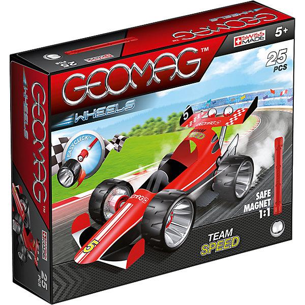 Магнитный конструктор Geomag с красной гоночной машиной
