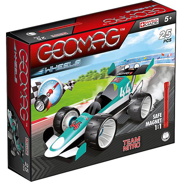 Магнитный конструктор Geomag с зеленой гоночной машиной