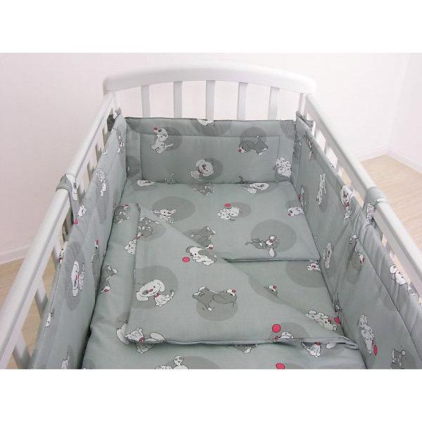 Детское постельное белье 3 предмета Фея, Наши друзья, серыйПостельное белье в кроватку новорождённого<br>Качественное постельное белье для детей делается из натуральных материалов. Этот комплект, состоящий  из наволочки, простыни и пододеяльника, сшит из хлопка, гипоаллергенного, приятного на ощупь и позволяющего коже дышать.<br>Все предметы из набора - стандартных размеров, отлично подойдут к обычной подушке, матрасу и одеялу. Простыня - на резинке, это поможет обеспечить малышу комфорт на всю ночь. Комплект украшен принтом с щенками - на нем малышу будет приятно засыпать! Симпатичная расцветка комплекта отлично подойдет к интерьеру детской.<br><br>Дополнительная информация:<br><br>цвет: серый, принт;<br>материал: 100% хлопок;<br>наволочка: 40 х 60 см,<br>простыня на резинке: 120 х 60 см,<br>пододеяльник: 110 х 140 см.<br><br>Постельное белье Наши друзья 3 пред., торговой марки Фея можно купить в нашем магазине.<br>Ширина мм: 500; Глубина мм: 600; Высота мм: 100; Вес г: 700; Возраст от месяцев: 0; Возраст до месяцев: 36; Пол: Унисекс; Возраст: Детский; SKU: 4873635;