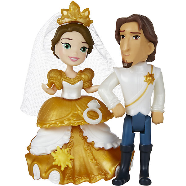 Hasbro Игровой набор с мини-куклой Disney Princess Маленькое королевство Свадьба Рапунцель hasbro мини кукла disney princess маленькое королевство рапунцель 7 5 см
