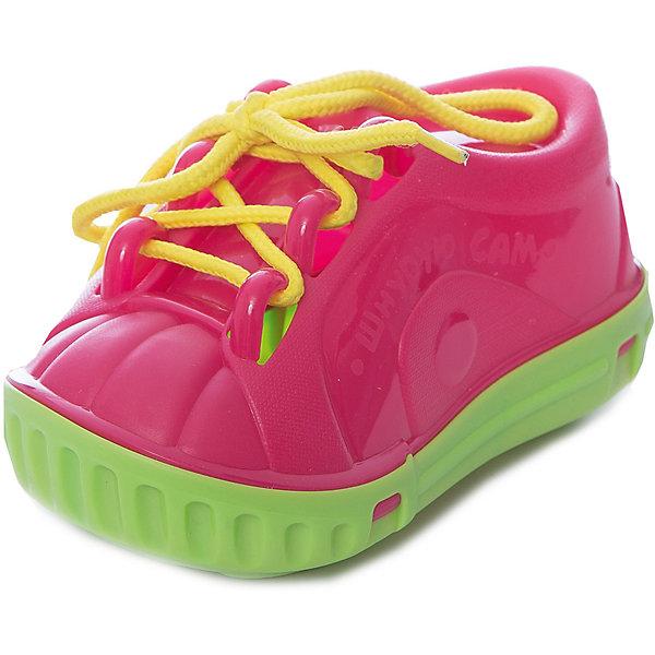 Нордпласт Дидактическая игрушка Ботинок-шнуровка, в сетке, Нордпласт игрушка нордпласт пожарный 294