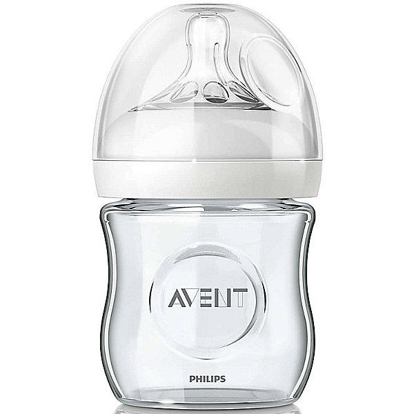Фотография товара стеклянная бутылочка Natural 120 мл, 0мес+, Philips Avent (4880864)