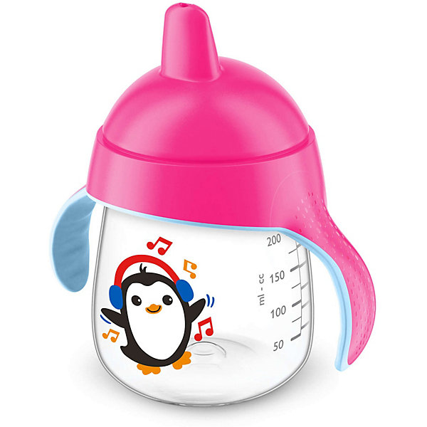 PHILIPS AVENT Чашка-поильник, 260 мл, 12 мес+, Philips Avent, розовый бутылочки philips avent classic с рисунком 260 мл