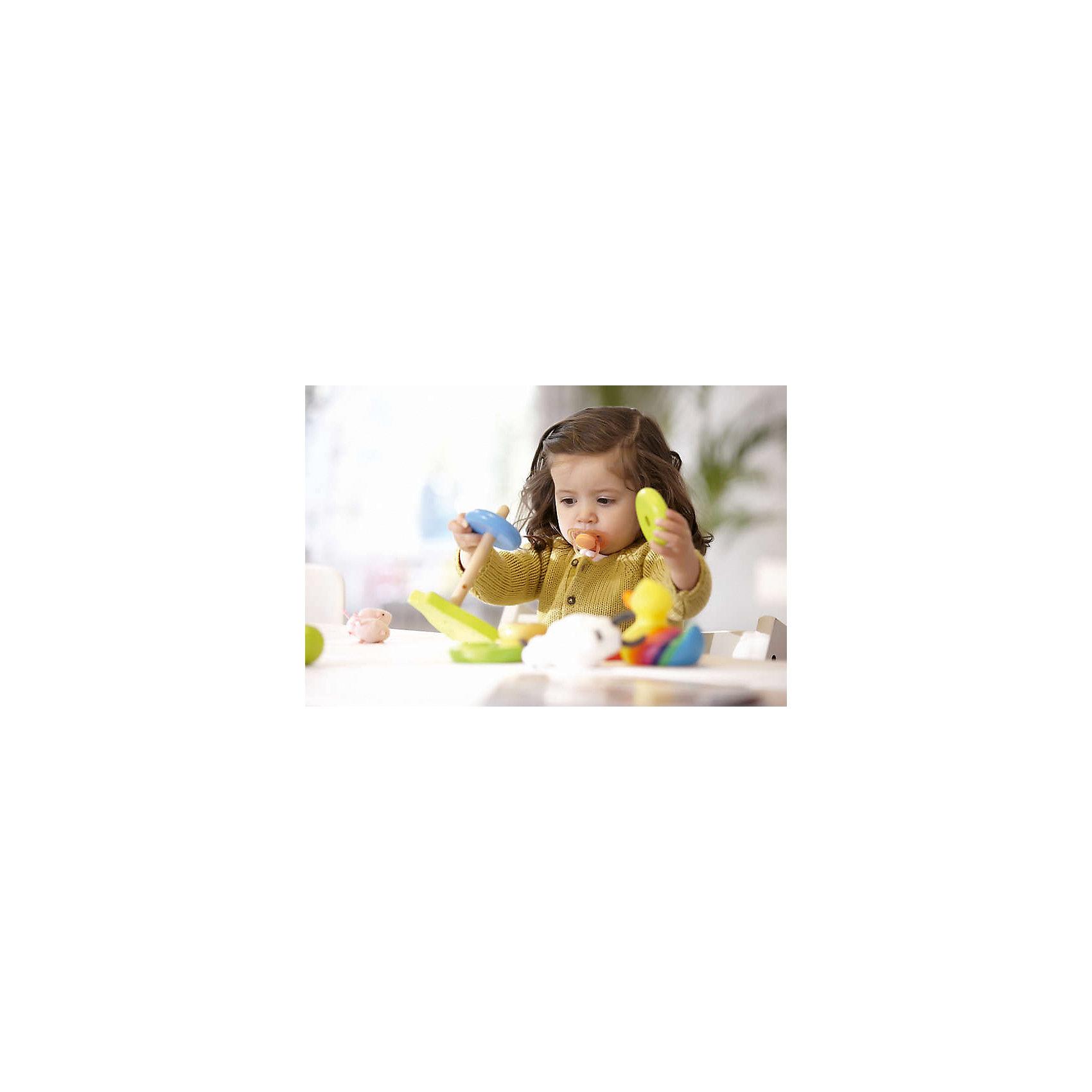 Соска-пустышка 6-18 мес, 2 шт., Philips Avent, розовый/желтый