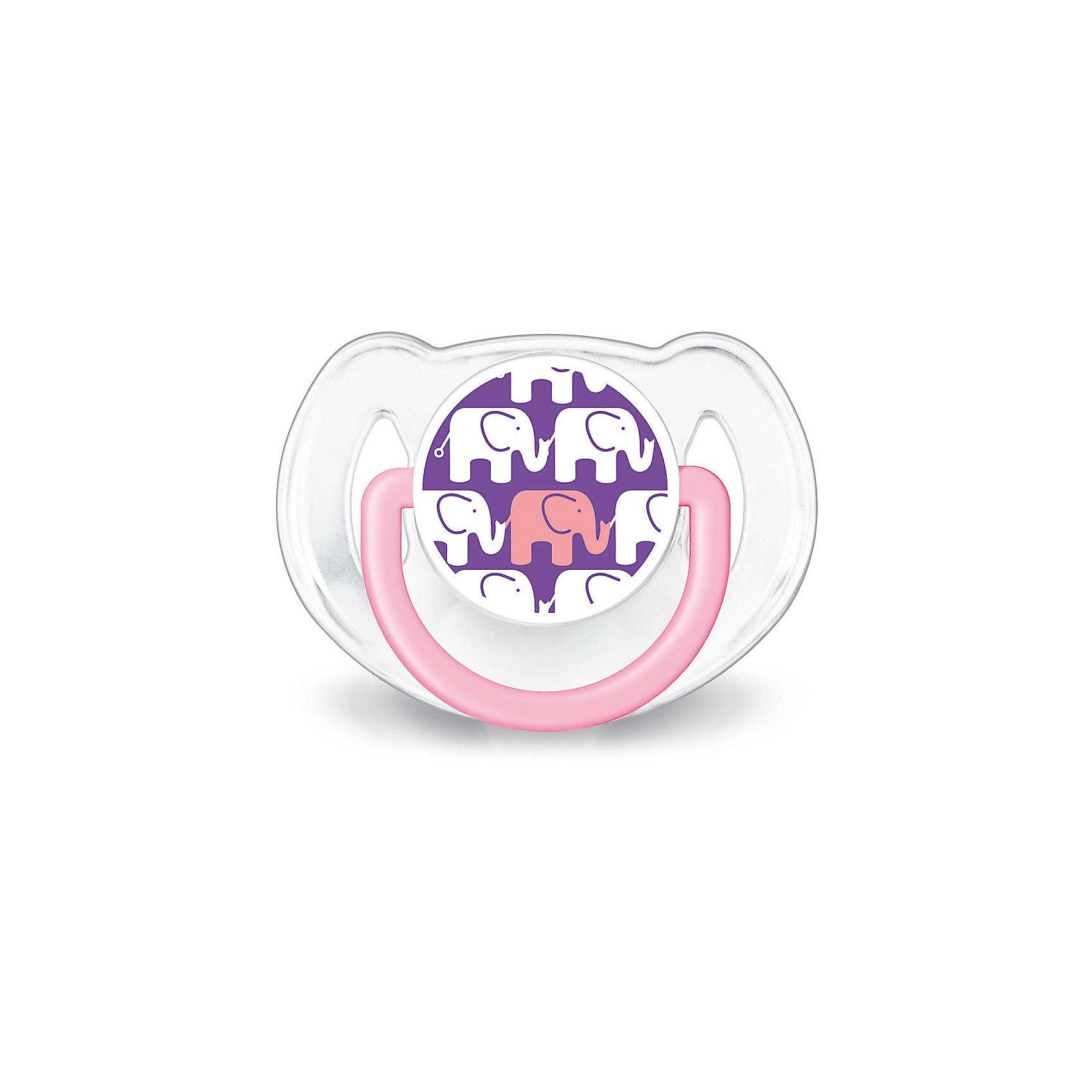 Соска-пустышка 6-18 мес, 2 шт, Дизайн, Philips Avent, фиолетовый/белый