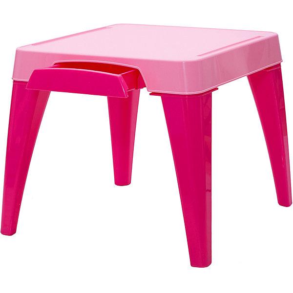 Детский стол Я расту, Little Angel, розовыйДетские столы и стулья<br>Детский стол Я расту, Little Angel, розовый ? это детская мебель серии Я расту от отечественного производителя . Детский стол изготовлен из экологически безопасных материалов ? полипропилена и ПВХ ? это сочетание обеспечивает легкость мебели, прочность, устойчивость к физическим и химическим воздействиям. Окраска стола обладает высокой устойчивостью цвета к внешним воздействиям. <br>Детский стол Я расту, Little Angel, розовый предназначен для детей в возрасте от 2-х лет, подходит для приема пищи, занятий или игр. Является абсолютно безопасным с точки зрения эксплуатации для маленьких детей: у столешницы закругленные углы, ножки стола имеют округлую форму. Сбоку столешницы имеется выдвижной ящик, в котором удобно будет хранить карандаши, фломастеры и краски. На столешнице имеются углубления, что защищает от падения на пол канцелярских принадлежностей, а также не позволяет пролившейся воде из стаканчика стечь на пол или ковер. На ножках стола имеются прорезиненные накладки, которые обеспечивают хорошее сцепление практически с любой поверхностью. <br>Детский стол Я расту, Little Angel, розовый ? идеальное решение для оформления детского уголка не только дома, но и на даче.<br><br>Дополнительная информация:<br><br>- Предназначение: для дома, для детских садов, для детских развивающих центров<br>- Цвет: розовый<br>- Пол: для девочки<br>- Материал: полипропилен, ПВХ<br>- Размер (Д*Ш*В): 57*57*50 см<br>- Вес: 3 кг 588 г<br>- Особенности ухода: разрешается мыть теплой мыльной водой<br><br>Подробнее:<br><br>• Для детей в возрасте: от 2 лет и до 6 лет<br>• Страна производитель: Россия<br>• Торговый бренд: Little Angel<br><br>Детский стол Я расту, Little Angel, розовый можно купить в нашем интернет-магазине.<br>Ширина мм: 570; Глубина мм: 570; Высота мм: 150; Вес г: 3588; Возраст от месяцев: 24; Возраст до месяцев: 72; Пол: Женский; Возраст: Детский; SKU: 4881747;