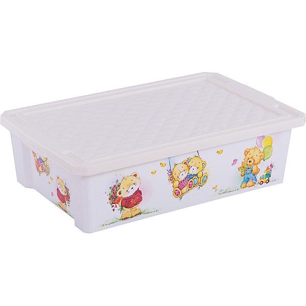 Ящик для хранения игрушек X-BOX Bears 30л на колесах, Little Angel, слоновая костьЯщики для игрушек<br>Ящик для хранения игрушек X-BOX Bears 30 л на колесах, Little Angel, слоновая кость изготовлен отечественным производителем . Выполненный из высококачественного пластика, устойчивого к внешним повреждениям и изменению цвета, ящик станет не только необходимым предметом для хранения детских игрушек и принадлежностей, но и украсит детскую комнату своим ярким дизайном. Он выполнен в цвете слоновой кости, по бокам нанесены устойчивые к повреждению изображения медвежат. Ящик оснащен крышкой, что защитит хранящиеся в нем предметы от пыли. Ящик оснащен колесиками, что позволяет его легко передвигать по помещению даже ребенку.<br>Ящик для хранения игрушек X-BOX Bears 30 л на колесах, Little Angel, слоновая кость достаточно прост в уходе, его можно протирать влажной губкой или мыть в теплой воде. <br><br>Дополнительная информация:<br><br>- Предназначение: для дома<br>- Цвет: слоновая кость, розовый<br>- Пол: для девочки<br>- Материал: пластик<br>- Размер (Д*Ш*В): 61*40,5*19,3 см<br>- Объем: 30 л<br>- Вес: 1 кг 314 г<br>- Особенности ухода: разрешается мыть теплой водой<br><br>Подробнее:<br><br>• Для детей в возрасте: от 2 лет и до 7 лет<br>• Страна производитель: Россия<br>• Торговый бренд: Little Angel<br><br>Ящик для хранения игрушек X-BOX Bears 30 л на колесах, Little Angel, слоновая кость можно купить в нашем интернет-магазине.<br>Ширина мм: 610; Глубина мм: 405; Высота мм: 193; Вес г: 1314; Возраст от месяцев: 24; Возраст до месяцев: 84; Пол: Унисекс; Возраст: Детский; SKU: 4881779;