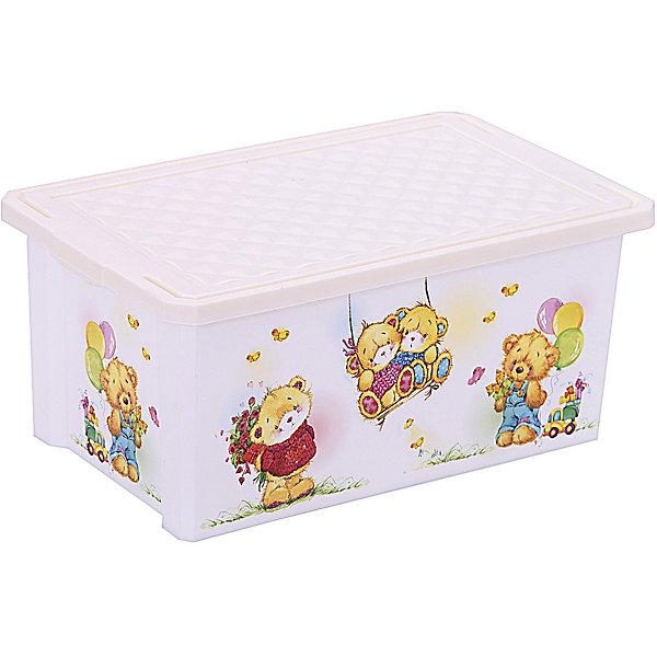 Ящик для хранения игрушек X-BOX Bears 12л, Little Angel, слоновая костьЯщики для игрушек<br>Ящик для хранения игрушек X-BOX Bears 12 л, Little Angel, слоновая кость изготовлен отечественным производителем . Выполненный из высококачественного пластика, устойчивого к внешним повреждениям и изменению цвета, ящик станет не только необходимым предметом для хранения детских игрушек и принадлежностей, но и украсит детскую комнату своим ярким дизайном. По бокам ящика с помощью инновационной технологии нанесены картинки, изображающие милых медвежат.<br>Ящик оснащен крышкой, что защитит хранящиеся в нем предметы от пыли. Компактный размер ящика идеально подходит для хранения принадлежностей для детского творчества: рисования, лепки, аппликации или рукоделия. <br>Ящик для хранения игрушек X-BOX Bears 12 л, Little Angel, слоновая кость достаточно прост в уходе, его можно протирать влажной губкой или мыть в теплой воде. <br><br>Дополнительная информация:<br><br>- Предназначение: для дома<br>- Цвет: слоновая кость, розовый<br>- Пол: для девочки<br>- Материал: пластик<br>- Размер (Д*Ш*В): 40,3*25,1*18 см<br>- Объем: 12 л<br>- Вес: 504 г<br>- Особенности ухода: разрешается мыть теплой водой<br><br>Подробнее:<br><br>• Для детей в возрасте: от 2 лет и до 7 лет<br>• Страна производитель: Россия<br>• Торговый бренд: Little Angel<br><br>Ящик для хранения игрушек X-BOX Bears 12 л, Little Angel, слоновая кость можно купить в нашем интернет-магазине.<br>Ширина мм: 403; Глубина мм: 251; Высота мм: 180; Вес г: 504; Возраст от месяцев: 24; Возраст до месяцев: 84; Пол: Унисекс; Возраст: Детский; SKU: 4881784;