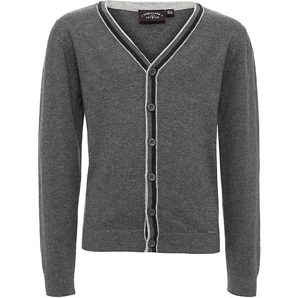 Купить Кардиган для мальчика Finn Flare, Китай, серый, 122, 158, 146, 134, Мужской