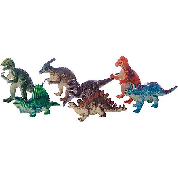 Набор из 7-и динозавров, 12,5см, Играем вместеИгровые фигурки животных<br>Яркий набор из семи динозавров непременно порадует юного любителя животных!<br><br>Дополнительная информация:<br><br>- Возраст: от 1 года.<br>- Размер динозавра: 12,5 см.<br>- Кол-во динозавров: 7 шт.<br>- Материал: пластик, силикон.<br>- Размер упаковки: 4х25х18 см.<br>- Вес в упаковке: 190 г.<br><br>Купить набор из семи динозавров Играем вместе можно в нашем магазине.<br>Ширина мм: 110; Глубина мм: 300; Высота мм: 270; Вес г: 250; Возраст от месяцев: 12; Возраст до месяцев: 48; Пол: Унисекс; Возраст: Детский; SKU: 4891770;