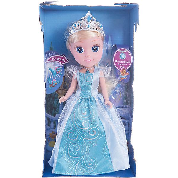 КАРАПУЗ Кукла Золушка со светящимся амулетом, 25см, со звуком, Принцессы Дисней, Карапуз кукла yako m6579 6