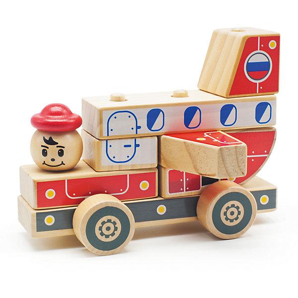 Автомобиль-конструктор 4, Мир деревянных игрушекДеревянные конструкторы<br>Этот яркий автомобильчик придется по вкусу всем юным автолюбителям! Секрет его в том, что он состоит из отдельных кубиков и деталей. Ребенку будет интересно самому собрать оригинальную машинку и потом весело играть с ней. Надо лишь надеть нужные детали на деревянные штырьки на платформе с колесами - и машинка готова! <br>Все детали автомобиля выполнены из натурального дерева, раскрашены гипоаллергенными нетоксичными красителями, не имеют острых углов, прекрасно обработаны - абсолютно безопасны для детей. <br>Игры с конструктором развивают у малышей моторику рук, внимание, пространственного воображение и фантазию. <br><br>Дополнительная информация:<br><br>- Возраст: от 3-х лет.<br>- Материал: дерево. <br>- Размер игрушки: 17 см. <br>- Количество деталей: 12.<br><br>Автомобиль-конструктор 4 можно купить в нашем магазине.<br>Ширина мм: 170; Глубина мм: 90; Высота мм: 130; Вес г: 460; Возраст от месяцев: 36; Возраст до месяцев: 2147483647; Пол: Унисекс; Возраст: Детский; SKU: 4895902;