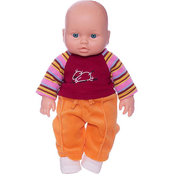 Кукла Малыш 3 (мальчик), 31 см, ВеснаБренды кукол<br>Характеристики:<br><br>• тип игрушки: кукла;<br>• комплектация: кукла, костюм, ботиночки;<br>• возраст: от 3 лет;<br>• размер: 31 см;<br>• бренд: Весна<br>• производство: Россия;<br>• упаковка: картонная коробка блистерного типа;<br>• материал: пластик, текстиль.<br><br>Кукла Малыш 3 от российского производителя Весна – это очень миловидный малыш, который станет для ребенка не только любимой куклой, но и интересным спутником для интересных ролевых игр. Кукла выполнена в очень реалистичном стиле, по этому ребенок будет о ней заботится и ухаживать с радостью и вниманием.<br><br>Высота куклы 31 см. На игрушке есть одежда - тёплый костюмчик и ботиночки. Глаза куклы очень выразительные, с длинными черными ресницами, при наклоне могут закрываться, имитируя сон. Все части тела игрушки подвижны, голова поворачивается.<br>Кукла изготовлена из высококачественных материалов, приятных на ощупь и безопасных для детей. Не вызывает аллергию и не выделяет неприятные запахи при использовании. Так же стоит обратить внимание на то, что производитель оставляет за собой право изменения цветовой гаммы, фасона одежды и волос куклы, цвет глаз так же может варьироваться.<br><br>Куклу Малыш 3 можно купить в нашем интернет-магазине.<br>Ширина мм: 170; Глубина мм: 100; Высота мм: 370; Вес г: 460; Возраст от месяцев: 36; Возраст до месяцев: 144; Пол: Женский; Возраст: Детский; SKU: 4896496;