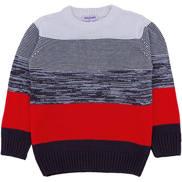 Джемпер для мальчика PlayTodayСвитера и кардиганы<br>Джемпер для мальчика от известного бренда PlayToday.<br>Уютный свитер из вязаного трикотажа. Стильный рисунок в разнокалиберную полоску. Рукава, воротник и низ на мягкой вязаной резинке. <br>Состав:<br>60% хлопок, 40% акрил<br>Ширина мм: 190; Глубина мм: 74; Высота мм: 229; Вес г: 236; Цвет: белый; Возраст от месяцев: 36; Возраст до месяцев: 48; Пол: Мужской; Возраст: Детский; Размер: 104,116,128,122,98,110; SKU: 4897330;
