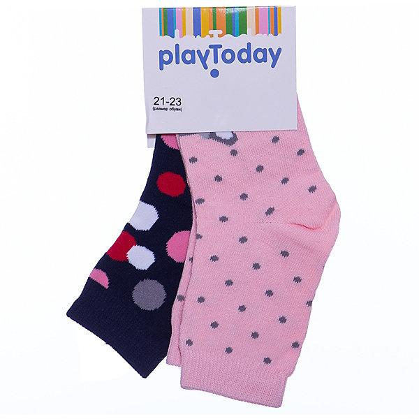 PlayToday Носки, 2 пары для девочки PlayToday колготки носки гетры bossa nova носки для девочки 2 пары 1846