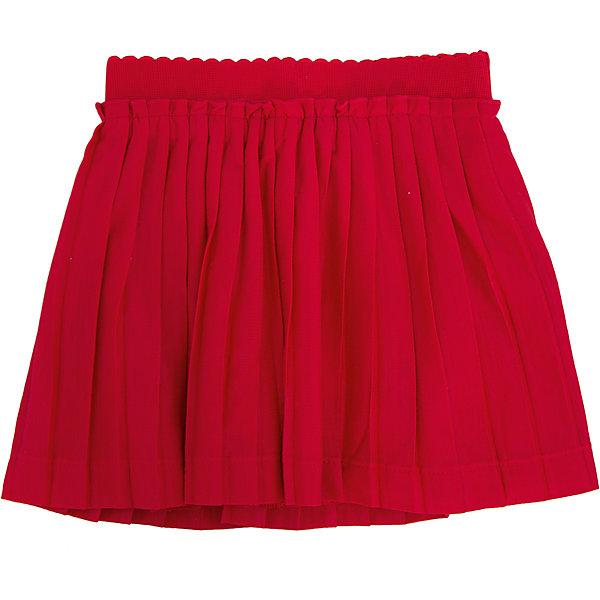 Юбка для девочки PlayTodayЮбки<br>Юбка для девочки от известного бренда PlayToday.<br>Воздушная плиссированная юбка яркого красного цвета. Внутри мягкая трикотажная подкладка, пояс на резинке.<br>Состав:<br>Верх: 100% полиэстер, Подкладка: 100% хлопок<br>Ширина мм: 207; Глубина мм: 10; Высота мм: 189; Вес г: 183; Цвет: красный; Возраст от месяцев: 36; Возраст до месяцев: 48; Пол: Женский; Возраст: Детский; Размер: 104,122,110,98,116,128; SKU: 4897664;