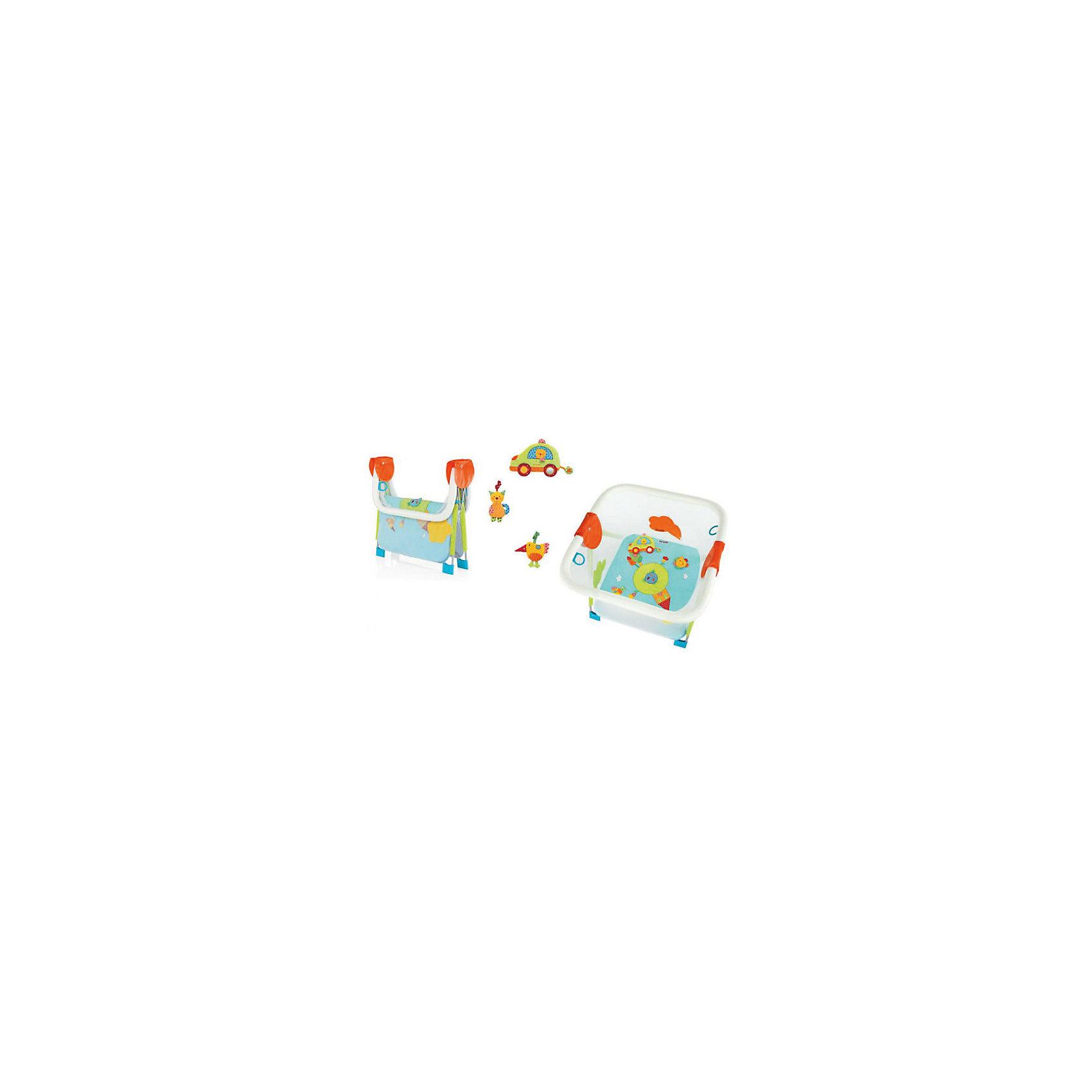 Манеж SOFT  PLAY GIRAMONDO, Brevi, голубой/зеленый/оранжевый (brevi)