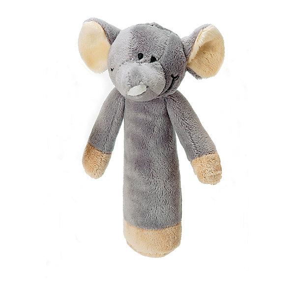 Погремушка в ручку Слон, Динглисар, TeddykompanietИгрушки для новорожденных<br>Характеристики погремушки Teddykompaniet:<br><br>• размер игрушки: 15 см;<br>• серия: Динглисар;<br>• звуковые эффекты: звенит при встряхивании;<br>• материал: 100% хлопок (велюр).<br><br>Игрушка небольшого размера для маленькой детской ручки. Погремушку удобно держать благодаря цилиндрической форме основания. При встряхивании мягкая игрушка издает негромкий звук. <br><br>Погремушку в ручку Слон, Динглисар, Teddykompaniet можно купить в нашем интернет-магазине.<br>Ширина мм: 150; Глубина мм: 150; Высота мм: 100; Вес г: 150; Возраст от месяцев: 0; Возраст до месяцев: 36; Пол: Унисекс; Возраст: Детский; SKU: 4903942;