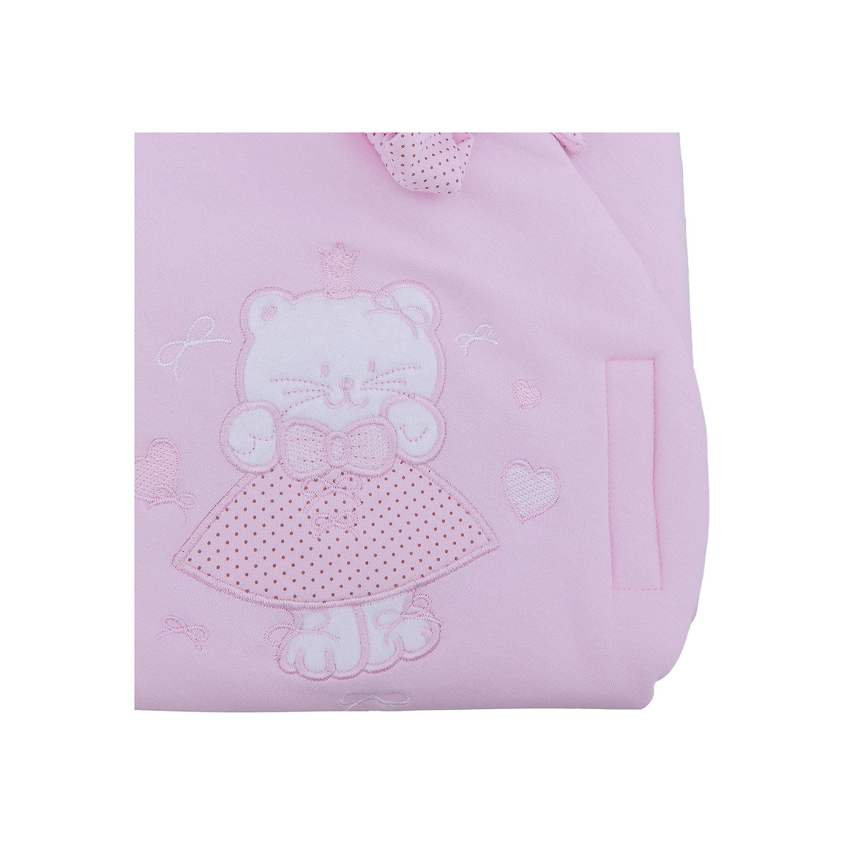 Конверт-одеяло Малютка, Leader kids, розовый