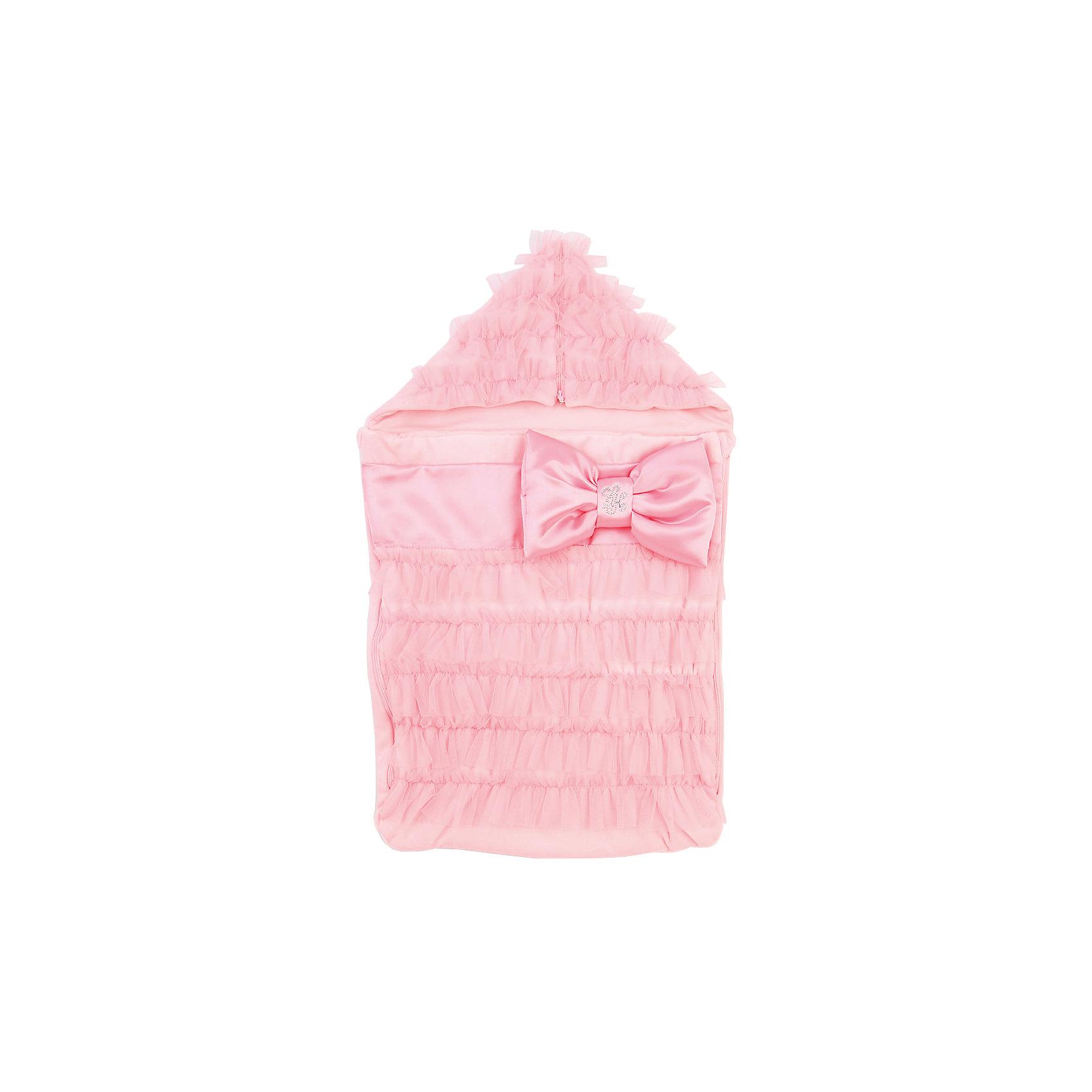 Конверт на выписку Нежность, Leader kids, розовый