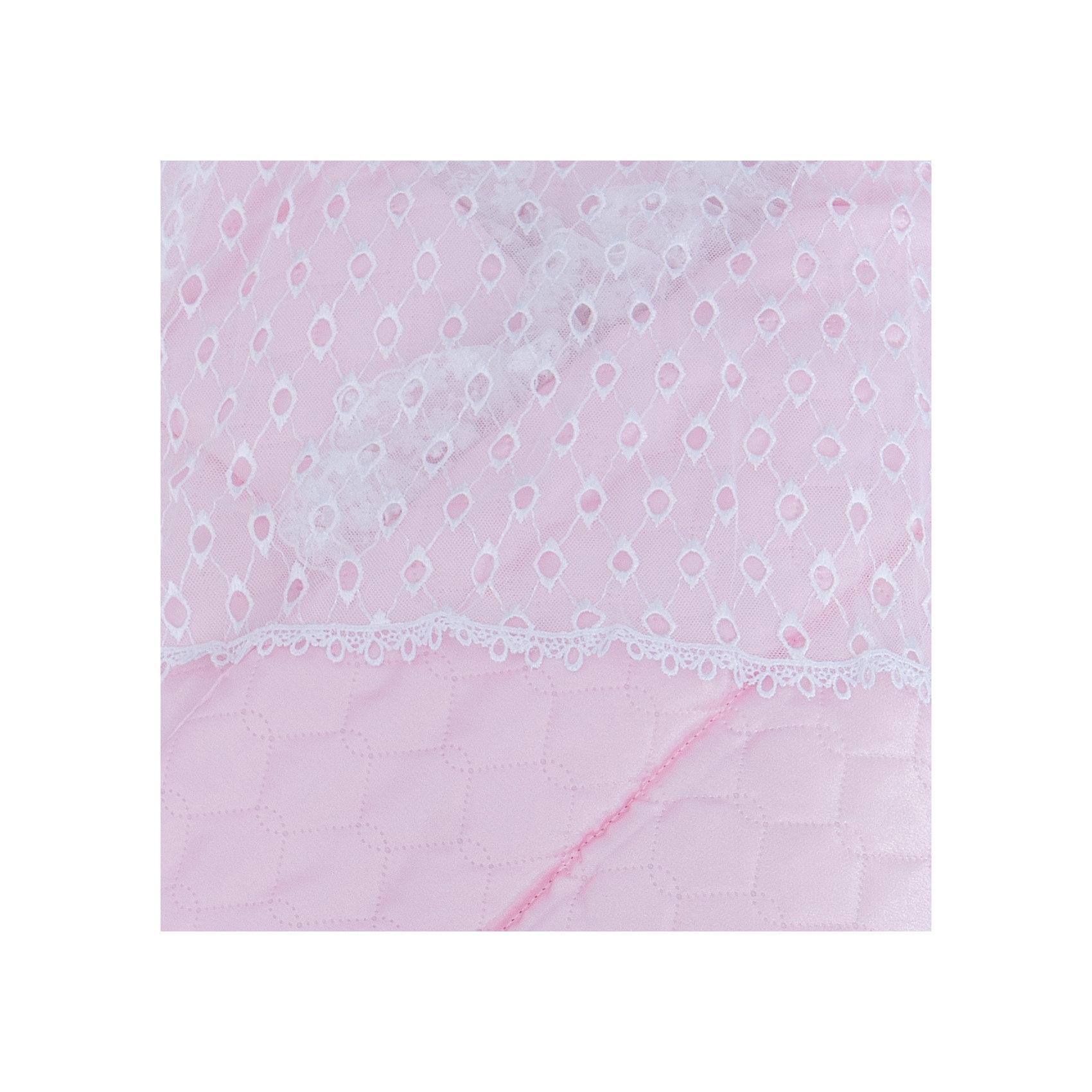 Конверт зимний, атлас., Leader kids, розовый, пакет, пвх