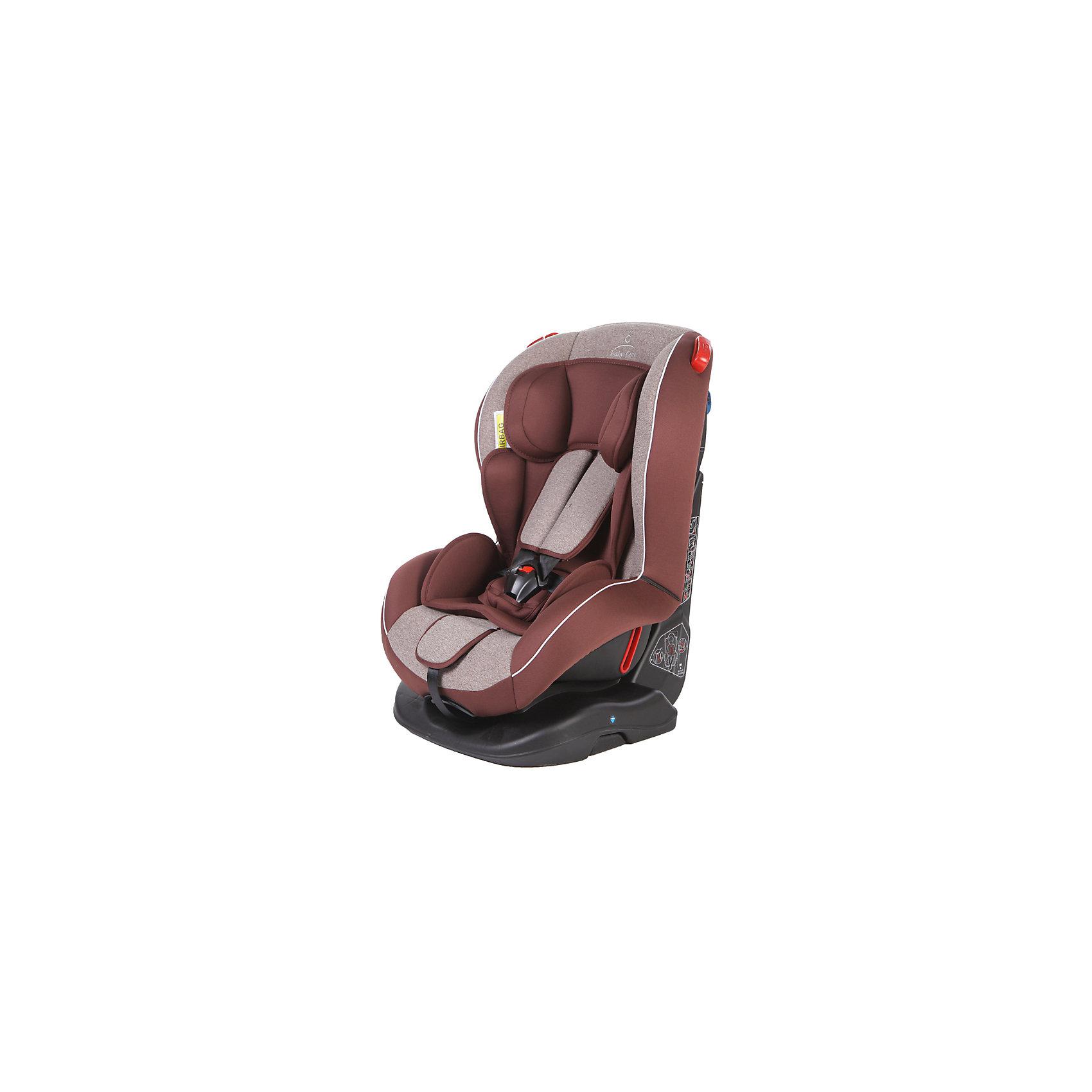 Автокресло Baby Care Basic Evolution 0-25 кг, бежевый/коричневый