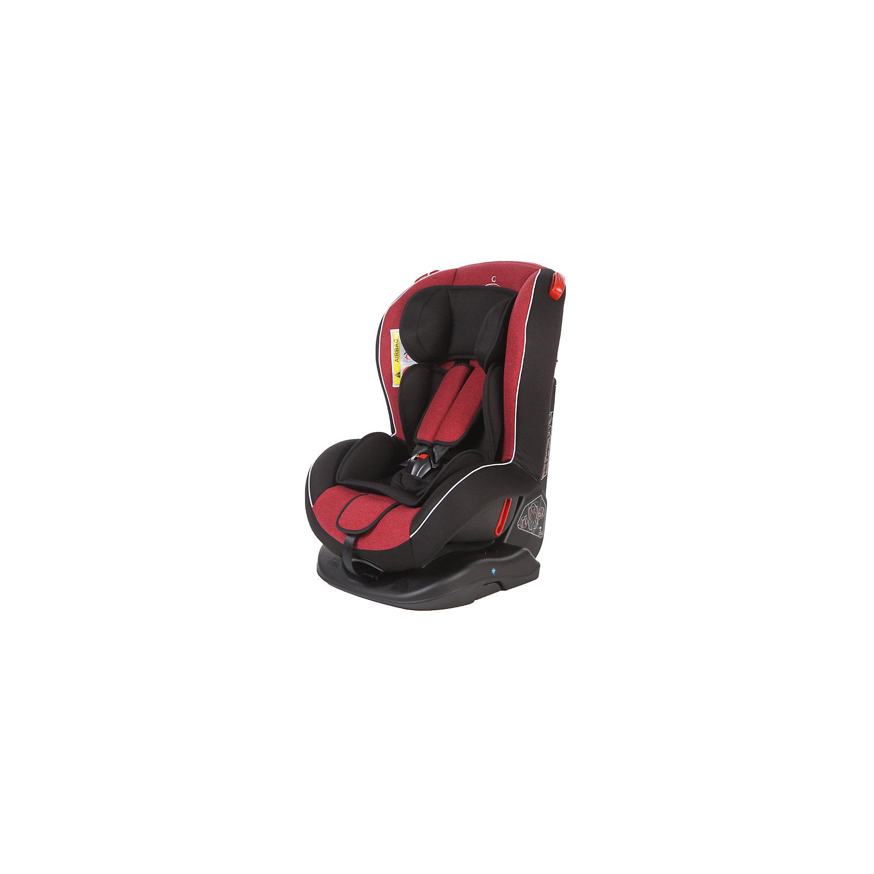 Автокресло Basic Evolution 0-25 кг, Baby Care, красный/чёрный