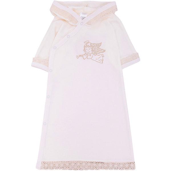 NewBorn Крестильное платье с капюшоном, тесьма, р-р 74, NewBorn, белый платье крестильное иришка 24 26