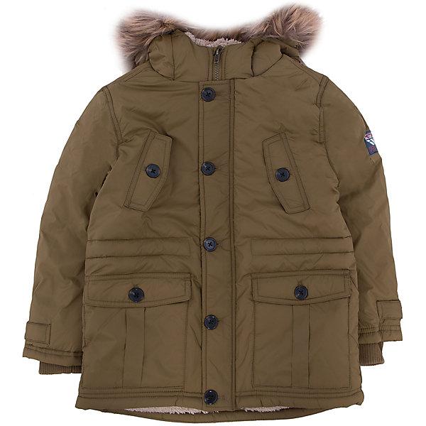 Куртка для мальчика SELAВерхняя одежда<br>Верхняя одежда от SELA - это качество и отличные цены. Куртка для мальчика из новой коллекции подготовит гардероб ребенка к осенним холодам. Цветовое решение куртки не оставит равнодушным никого.  Модель не только стильная, но и функциональная.  У куртки две пары карманов и резинка на рукавах, которая защитит руки от ветра.<br>Все материалы, использованные в создании изделия,  отвечают современным требованиям по качеству и безопасности продукции. <br><br>Дополнительная информация:<br><br>цвет: хаки;<br>состав: подкладка - 100% нейлон, подкладка (рукава) - 100% ПЭ, утеплитель - 100% ПЭ, мех -  100% ПЭ;<br>длина до середины бедра;<br>силуэт прямой;<br>капюшон притачной.<br><br>Куртку для мальчика от компании SELA можно купить в нашем магазине.<br>Ширина мм: 356; Глубина мм: 10; Высота мм: 245; Вес г: 519; Цвет: коричневый; Возраст от месяцев: 60; Возраст до месяцев: 72; Пол: Мужской; Возраст: Детский; Размер: 116,104,98,110; SKU: 4912979;