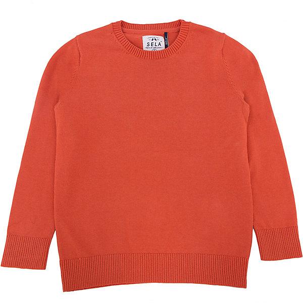 Купить Джемпер для мальчика SELA, Китай, оранжевый, Мужской