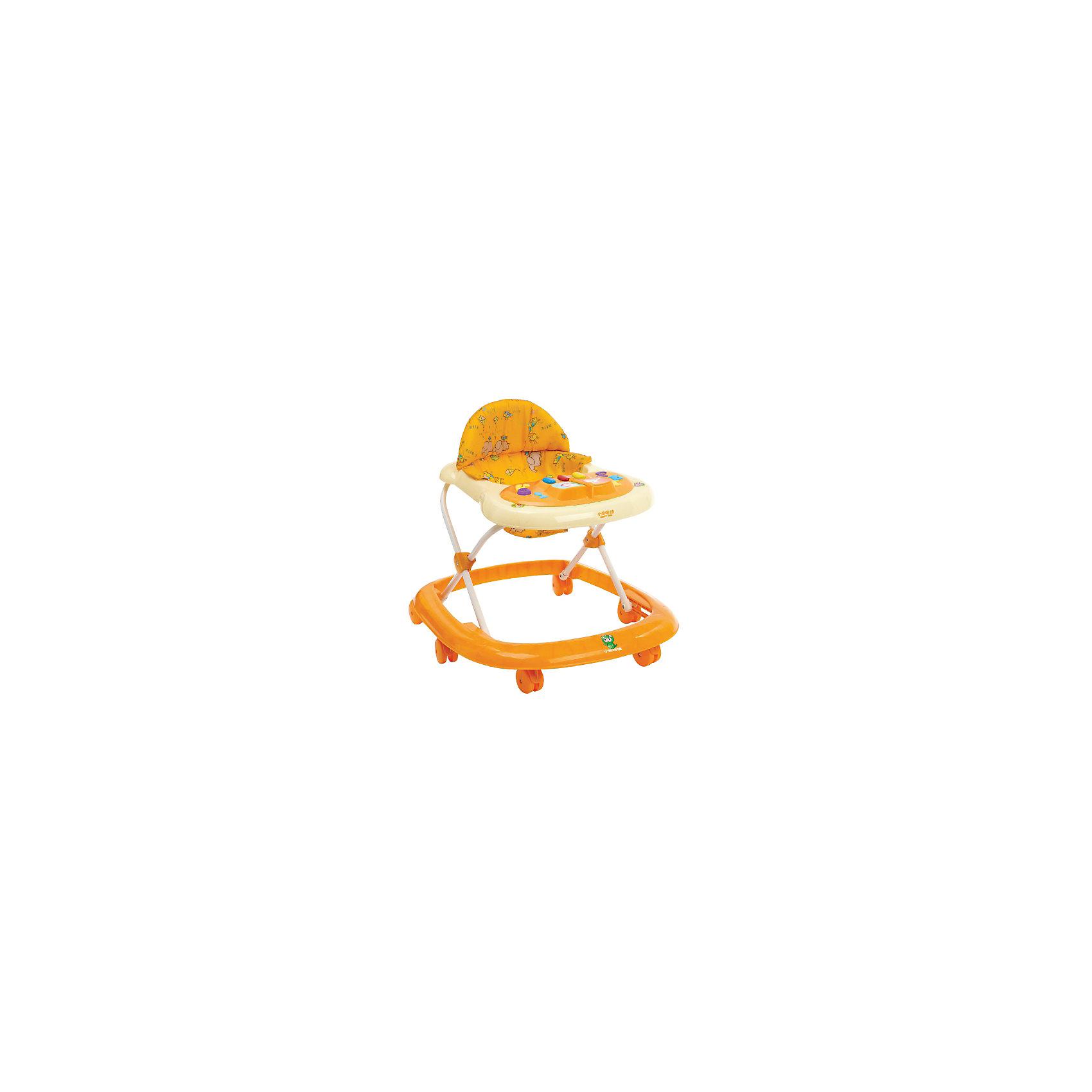 Ходунки LXB103H, Happy Dino, оранжевый