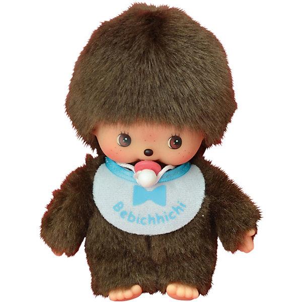 Купить Мягкая игрушка Monchhichi Бэбичичи, мальчик в голубом слюнявчике, 15 см, Китай, Мужской