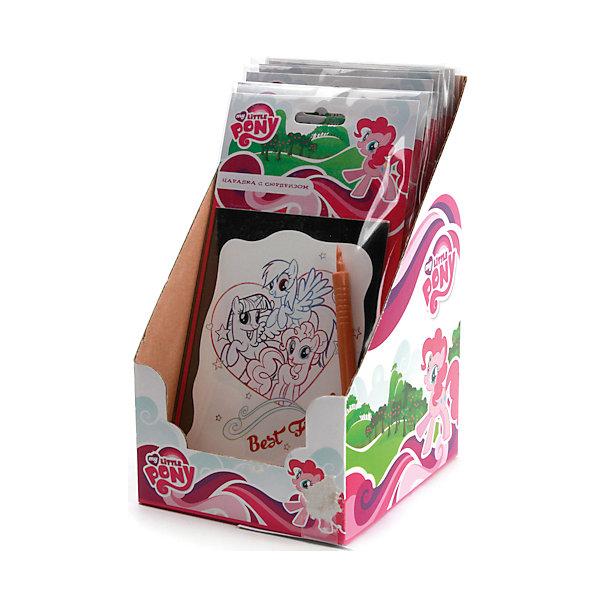 Набор Царапка с сюрпризом, My Little PonyГравюры для детей<br>Потрясающий набор Царапка с сюрпризом в стиле мультфильма My Little Pony  непременно понравится девочке. Создать яркую картинку можно с помощью специальной палочки. Готовую работу приятно будет повесить в детской комнате или оставить в подарок близкому человеку.<br>Дополнительная информация:<br>-в наборе: картинка-основа, специальная ручка<br>Сказочный персонаж: My Little Pony<br>-вес: 40 грамм<br>-размер упаковки: 12х14х22 см<br>Набор Царапка с сюрпризом вы можете приобрести в нашем интернет-магазине.<br>Ширина мм: 220; Глубина мм: 140; Высота мм: 120; Вес г: 40; Возраст от месяцев: 60; Возраст до месяцев: 108; Пол: Женский; Возраст: Детский; SKU: 4915521;