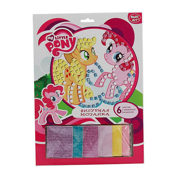 Набор Фигурная мозаика со стразами, My Little PonyMy little Pony<br>Набор с мозаикой позволит ребенку создать очаровательную картинку с красивыми лошадками из мультика My Little Pony. Хорошо развивает воображение, формирует усидчивость. Готовую картинку можно оставить для подарка или украсить ей квартиру.<br>Дополнительная информация:<br>-в наборе: клеящие элементы,6 листов с мозаикой, блестки<br>Сказочный персонаж: My Little Pony<br>-вес: 140 грамм<br>-размер упаковки: 24х33х2 см<br>Фигурную мозаику со стразами My Little Pony можно купить в нашем интернет-магазине.<br>Ширина мм: 20; Глубина мм: 330; Высота мм: 240; Вес г: 140; Возраст от месяцев: 72; Возраст до месяцев: 120; Пол: Женский; Возраст: Детский; SKU: 4915541;