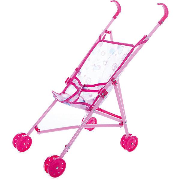 1Toy Коляска-трость для куклы 1Toy, розовая