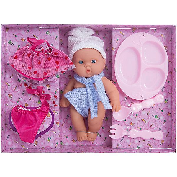 Набор с пупсом, 18 смКуклы-пупсы<br>Игры в кукол - это неотъемлемая часть жизни девочек! Такие игры помогают социализации малышей и освоению ими полезных навыков. Также подобные игрушки развивают воображение и мелкую моторику.<br>Этот набор обязательно понравится ребенку. В нем есть не только симпатичный пупс, но и одежда для него, а также аксессуары. Игрушка сделана из качественных и безопасных для ребенка материалов. <br><br>Дополнительная информация:<br><br>цвет: разноцветный;<br>материал: пластик, текстиль;<br>комплектация: пупс, одежда, аксессуары;<br>высота пупса: 18 см;<br>вес: 583 г.<br><br>Набор с пупсом, 18 см,  можно купить в нашем магазине.<br>Ширина мм: 320; Глубина мм: 230; Высота мм: 70; Вес г: 583; Возраст от месяцев: 36; Возраст до месяцев: 2147483647; Пол: Женский; Возраст: Детский; SKU: 4916379;