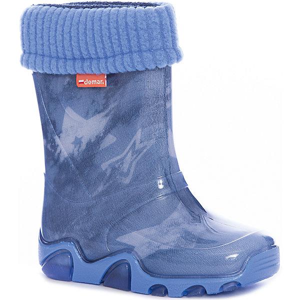 Купить Резиновые сапоги Stormer Lux Print для мальчика DEMAR, Польша, синий, Мужской